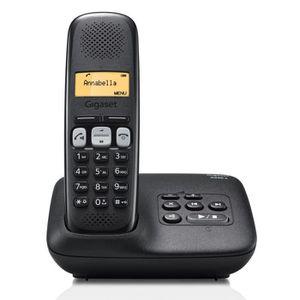 Téléphone fixe Gigaset A250A Solo Téléphone Sans Fil Répondeur No