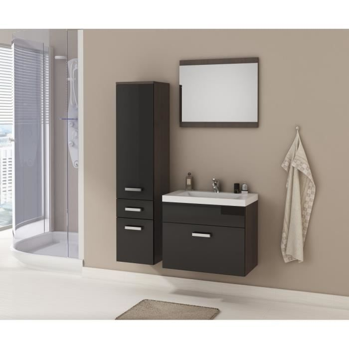 Colonne salle de bain couleur wenge - Achat / Vente pas cher
