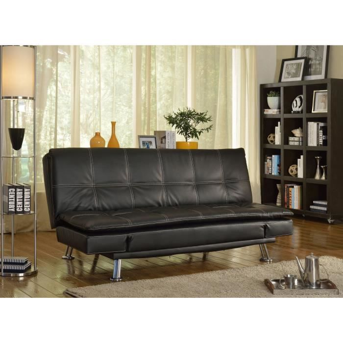 Grazia banquette clic clac convertible lit 2 places simili for Petit clic clac place