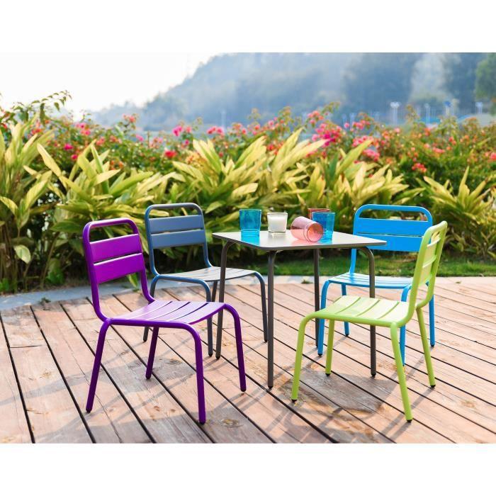 de et en 4 pour table Ensemble chaises acier jardin enfant 0vmwyN8nO