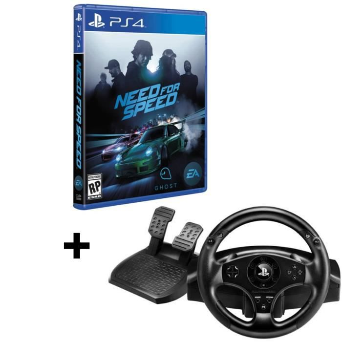 pack need for speed jeu ps4 volant t80 officiel sony ps3 ps4 gamingpascher. Black Bedroom Furniture Sets. Home Design Ideas