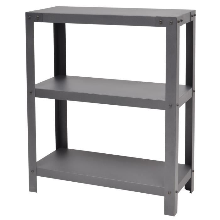 Metalik etag re meuble style industriel en acier laqu for Meuble etagere style industriel