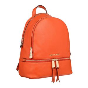 SAC À DOS MICHAEL KORS - RHEA ZIP Sac à dos en cuir orange -