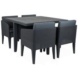 Ensemble table et chaise de jardin KETER Ensemble de jardin 4 places Columbia imitati