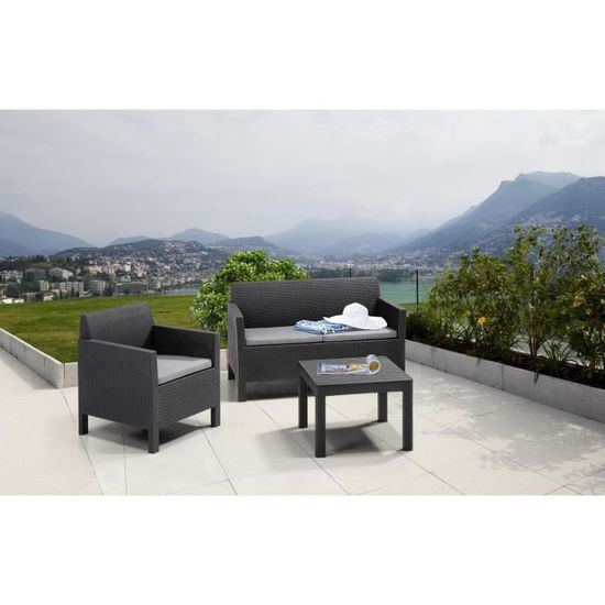 Allibert Salon De Jardin Houston 3 Places Modulable Avec Table Basse