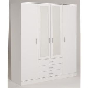 armoire blanche 4 portes achat vente armoire blanche 4. Black Bedroom Furniture Sets. Home Design Ideas