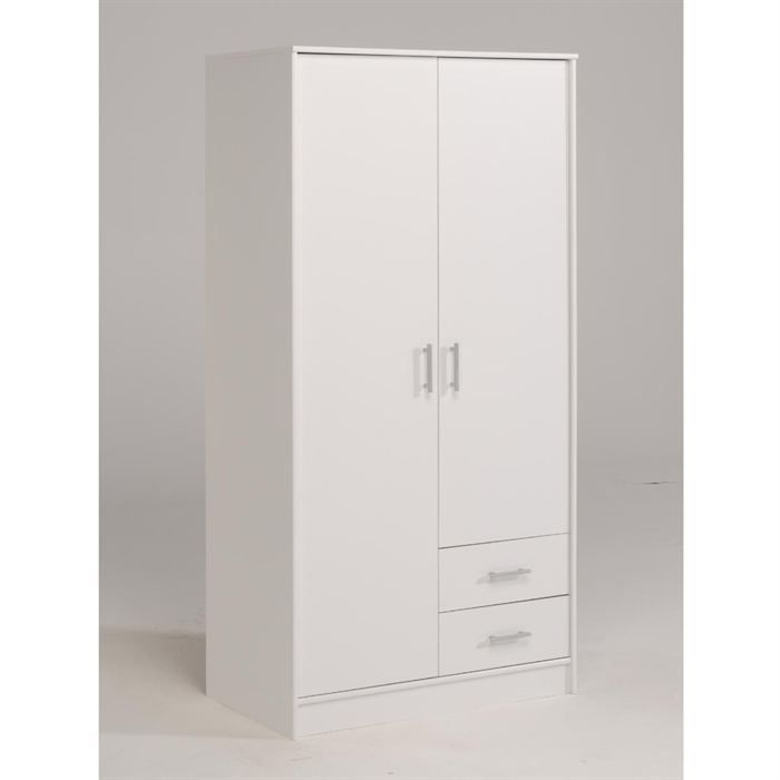 Object moved - Armoire blanche 2 portes ...