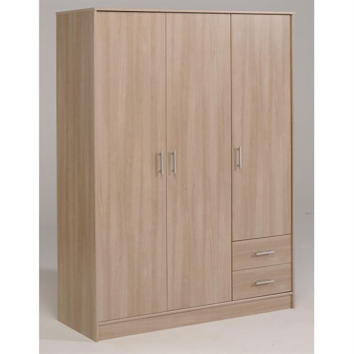 Suny armoire bruges 3 portes 2 tag res achat vente for Achat armoire chambre