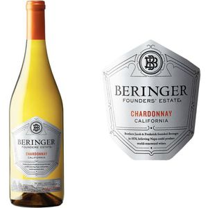 VIN BLANC Beringer Founder Estate Chardonnay Californie -...