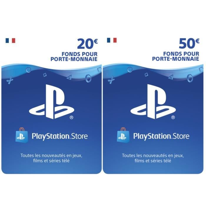 Playstation Network Live Card 70 Achat Vente Carte Multimedia Playstation Network 70 Cdiscount