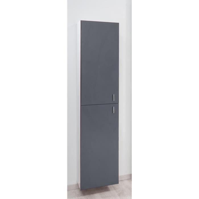 COLONNE - ARMOIRE SDB MODULO Colonne de salle de bain L 39 cm - Ardoise