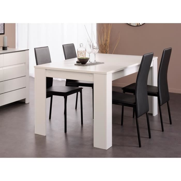 Soho table manger 160x79 cm blanc achat vente table a manger seule soho - Table a manger blanc ...