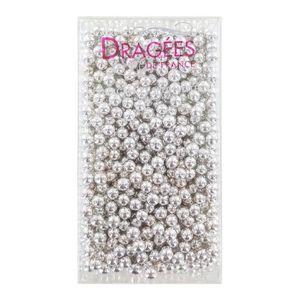 DÉCORATION PÂTISSERIE DRAGEES DE FRANCE Perles de sucre - Argentées N° 6
