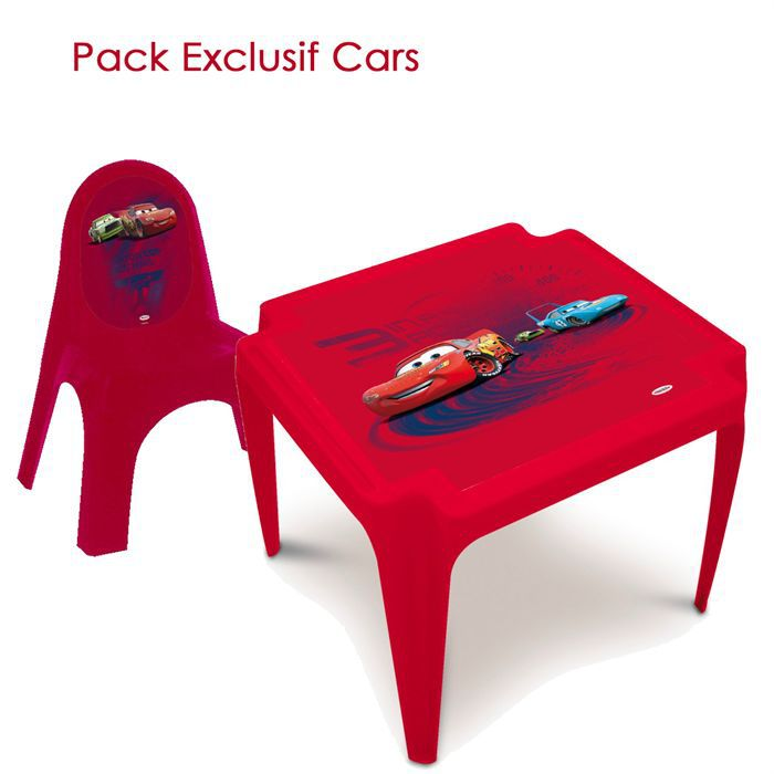 pack exclusif table chaise cars disney achat vente table et chaise soldes d hiver. Black Bedroom Furniture Sets. Home Design Ideas