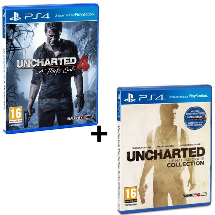 jeux pc video console ps pack uncharted  a thief s end the n f bunpsjeuunchart