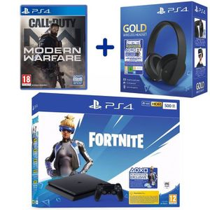 CONSOLE PS4 Console PS4 Slim 500 Go Noire + Call of Duty: Mode