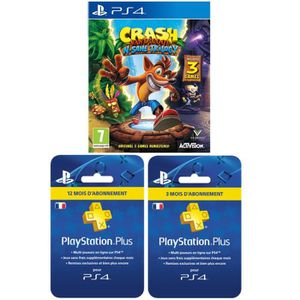 PACK ACCESSOIRE Crash Bandicoot N. Sane Trilogy + Abonnement PlayS