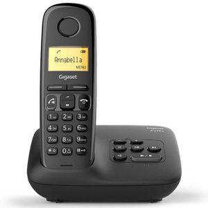 Téléphone fixe Gigaset A270 A Solo avec répondeur Noir