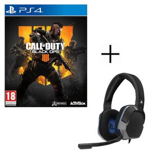 JEU PS4 Call of Duty Black OPS 4 jeux PS4 + Casque Gamer A
