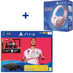 CONSOLE PS4 Console PS4 Slim 1To Noire + FIFA 20 + 14 Jours d'