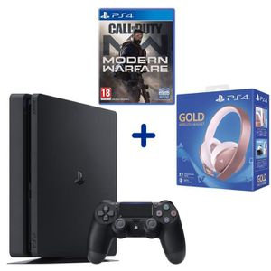 CONSOLE PS4 Console PS4 Slim 500 Go Noire/Jet Black + Call of