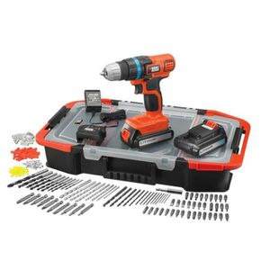 PERCEUSE BLACK&DECKER Perceuse Visseuse 2x18V Li + 165 acce
