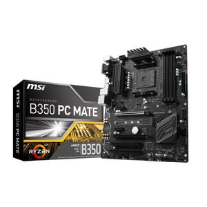 CARTE MÈRE MSI Carte mère B350 PC MATE - Socket AM4 - DDR4 -