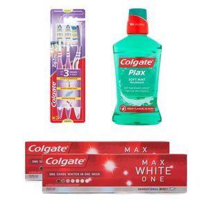 KIT PRODUITS DENTAIRES Pack COLGATE : Lot de 2 dentifrices Max White ONE