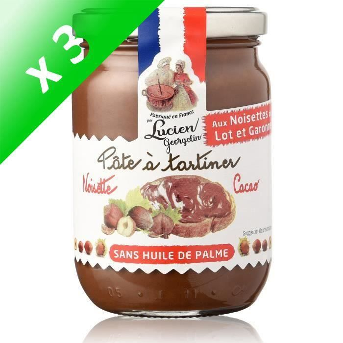 PÂTE À TARTINER LUCIEN GEORGELIN Pâtes à Tartiner Noisette Cacao 2