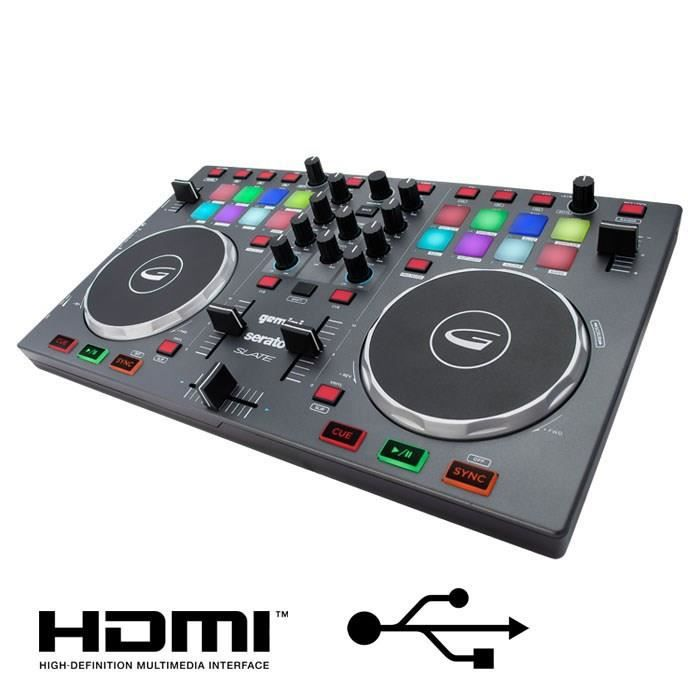 gemini slate table de mixage 2 voies usb hdmi table de mixage avis et prix pas cher cdiscount. Black Bedroom Furniture Sets. Home Design Ideas