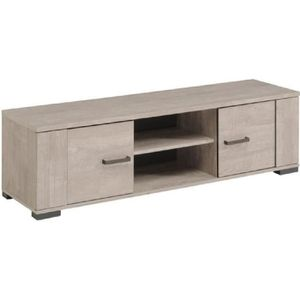 meuble tv chene gris achat vente meuble tv chene gris pas cher cdiscount. Black Bedroom Furniture Sets. Home Design Ideas