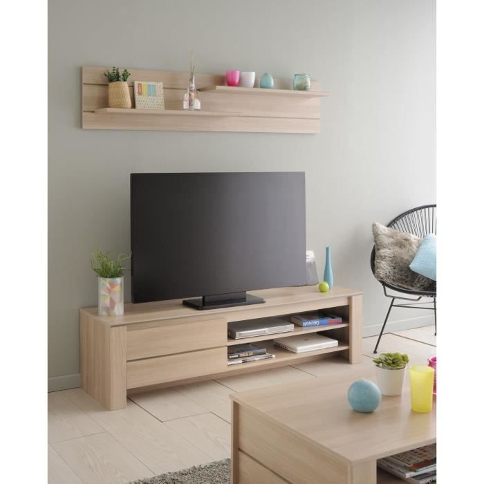 soho meuble tv l152 cm d cor bruges achat vente meuble tv soho meuble tv l152 cm structure. Black Bedroom Furniture Sets. Home Design Ideas