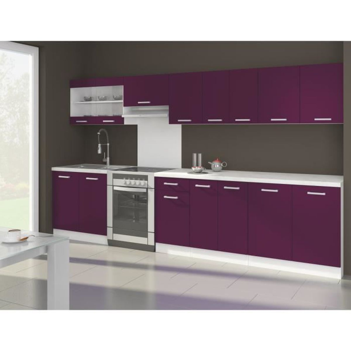 couleur aubergine cuisine gk49 jornalagora. Black Bedroom Furniture Sets. Home Design Ideas