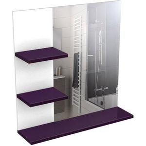 Miroir salle de bain gris