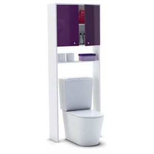 COLONNE - ARMOIRE WC CORAIL Meuble WC ou machine à laver L 63 cm - Aube