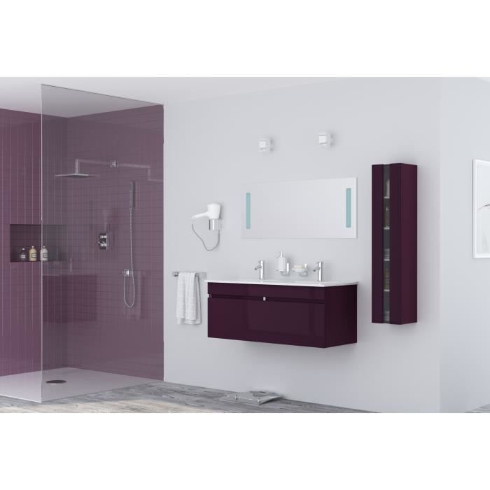 meuble salle de bain aubergine achat vente meuble. Black Bedroom Furniture Sets. Home Design Ideas