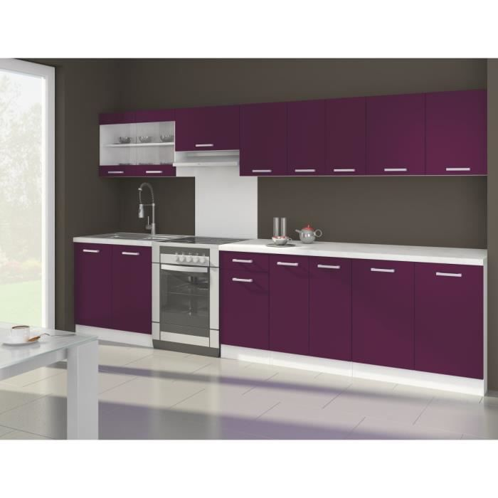 ultra xxl cuisine compl te 3m20 aubergine mat achat vente cuisine compl te ola cuisine. Black Bedroom Furniture Sets. Home Design Ideas