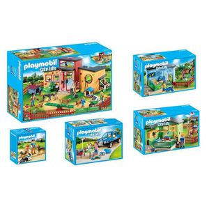 UNIVERS MINIATURE PLAYMOBIL - Pack La Pension des Animaux - Lot de 5