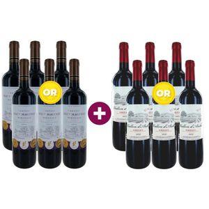 VIN ROUGE 6 Château Haut Maginet 2016 Bordeaux + 6 Vallon d'