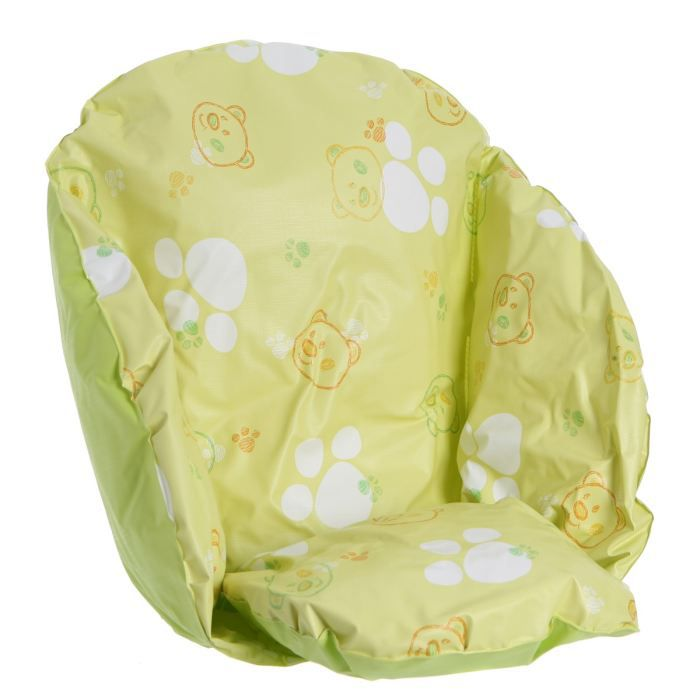 roudoudou coussin de chaise flocons jaune vert achat. Black Bedroom Furniture Sets. Home Design Ideas