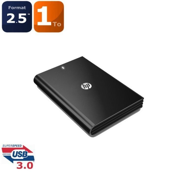 hp disque dur 1to usb3 0 noir achat vente disque dur. Black Bedroom Furniture Sets. Home Design Ideas