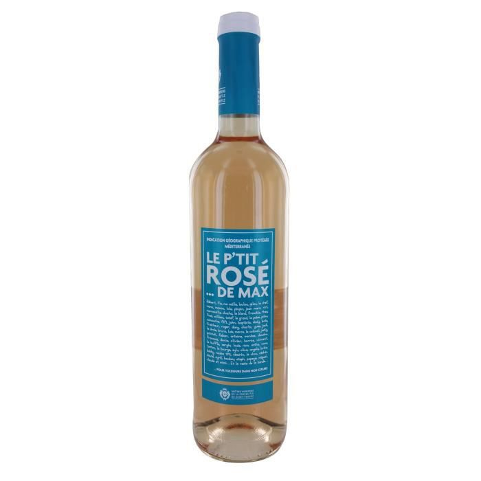 VIN ROSÉ Le P'tit Rosé de Max Méditerranée - Vin rosé de Pr