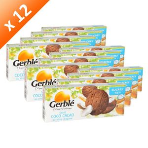 BISCUITS SECS GERBLE Sablé Cacao Coco 132g (x12)
