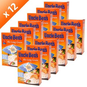 RIZ UNCLE BEN'S Riz Long Grain Sachet 10min 1kg (x12)