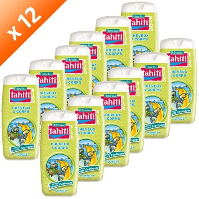 GEL - CREME DOUCHE TAHITI Kids Gel Douche Fruits Exo. 300ml (x12)
