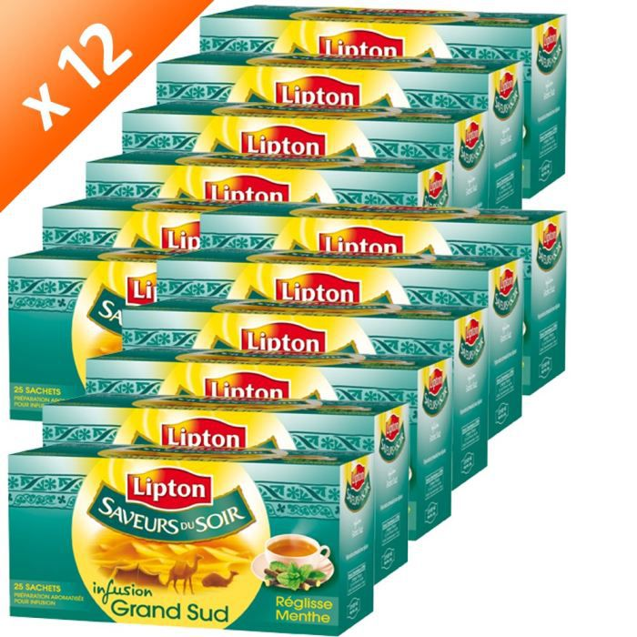 lipton infus saveurs soir grand sud x12 achat vente infusion pcb12 lipton infus sav. Black Bedroom Furniture Sets. Home Design Ideas