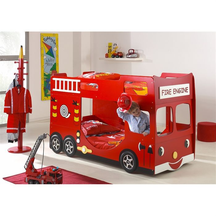 fun beds lits enfant superpos s camion de pompier achat. Black Bedroom Furniture Sets. Home Design Ideas