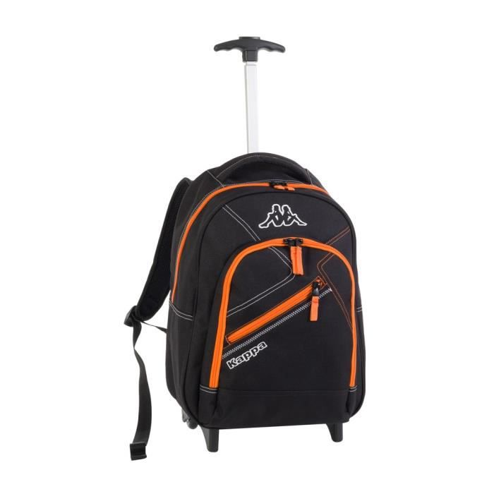 kappa sac dos trolley ski classic enfant noir et orange achat vente sac dos. Black Bedroom Furniture Sets. Home Design Ideas