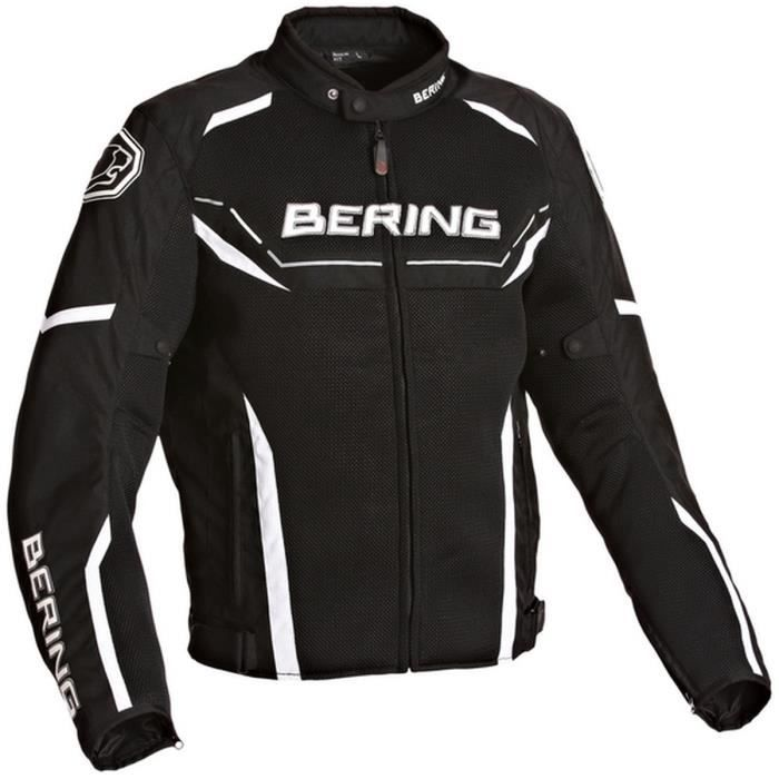bering scream blouson moto textile noir et blanc achat vente blouson veste bering scream. Black Bedroom Furniture Sets. Home Design Ideas