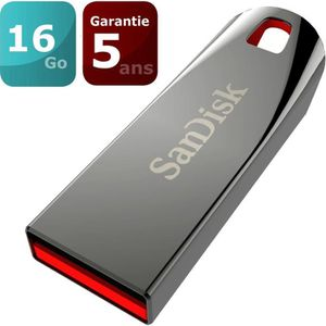 CLÉ USB SANDISK Clé USB Cruzer Force - 16Gb - 2.0 - Gris